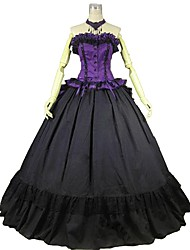 cheap -Rococo Victorian Costume Women's Outfits Purple Vintage Cosplay 50% Cotton / 50% Polyester Sleeveless Cold Shoulder Ball Gown