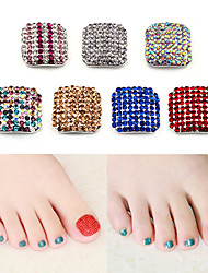 cheap -Two-piece Suit Artificial Nail Tips For Toe Nail Multi-Design / Rhinestone Style nail art Manicure Pedicure Simple / Bling Bling