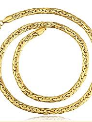 Недорогие -Муж. Ожерелья-бархатки Цепь Foxtail Классика Медь Розовое золото Золотой Ожерелье Бижутерия 1 Назначение Подарок Повседневные