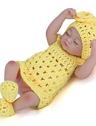 Недорогие -NPKCOLLECTION NPK DOLL Куклы реборн Кукла для девочек Девочки 12 дюймовый Полный силикон для тела Силикон Винил - Новорожденный как живой Милый стиль Ручная работа Безопасно для детей Новый дизайн