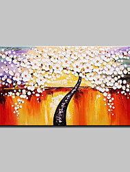 cheap -Mintura® Hand Painted Rich Tree Oil Paintings On Canvas Modern Abstract Flowers Wall Art Pictures For Home Decoration Ready To Hang