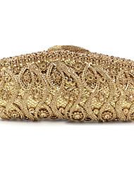 cheap -Women's Bags Alloy Evening Bag Glitter Crystals Rhinestone Wedding Event / Party 2021 Handbags Chain Bag Black Gold Silver