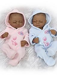 Недорогие -NPKCOLLECTION NPK DOLL Куклы реборн Кукла для девочек Девочки Африканская кукла 10 дюймовый Полный силикон для тела Силикон Винил - / Новорожденный / Ручная работа / Естественный тон кожи
