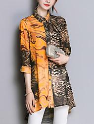 cheap -Women's Daily Shirt Shirt Collar Brown