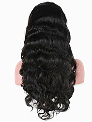 cheap -Virgin Human Hair Full Lace Lace Front Wig with Baby Hair style Brazilian Hair Body Wave Wig 130% 150% 180% Density Natural Hairline Women's Long Human Hair Lace Wig PERFE