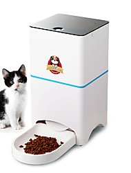 cheap -Dogs Cats Pets Feeders 5 L Adjustable Smart Automatic Food Dispenser White Bowls & Feeding