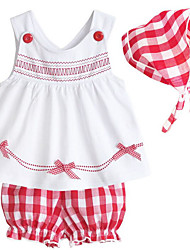 cheap -Baby Girls' Casual Daily Geometric Sleeveless Clothing Set White