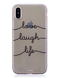 cheap -Case For Apple iPhone XS / iPhone XR / iPhone XS Max Translucent Back Cover Word / Phrase Soft TPU