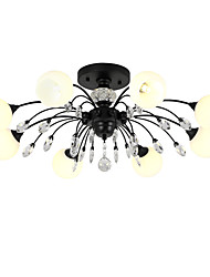 cheap -LightMyself™ 8-Light 78 cm Crystal / Matte Chandelier / Pendant Light Metal Glass Painted Finishes Modern Contemporary / Traditional / Classic 110-120V / 220-240V / G9