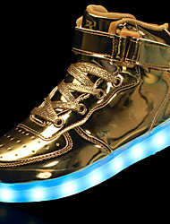 cheap -Men's Light Up Shoes Faux Leather Spring / Fall LED Sneakers Non-slipping Black / White / Gold / Outdoor