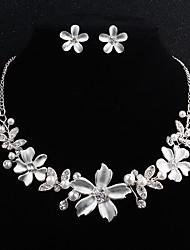 cheap -Women's Jewelry Set Flower European Fashion Pearl Earrings Jewelry Silver For Wedding Daily