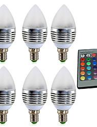 Недорогие -ywxlight® e14 3w rgb 4w 300-400lm led 16 цветная световая лампа свечи лампы подсветки ac85-265v 24 клавиши и дистанционное управление ac 85-265v