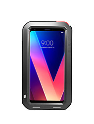 cheap -Case For LG LG V30 Water / Dirt / Shock Proof Full Body Cases Solid Color Hard Metal