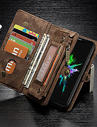 cheap -Case For Apple iPhone X / iPhone 8 Plus / iPhone 8 Wallet / Card Holder / Shockproof Full Body Cases Solid Colored Hard Genuine Leather