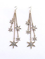 cheap -Women's Drop Earrings Star Ladies Classic Fashion Earrings Jewelry Gold For Daily