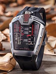 Недорогие -Муж. Повседневные часы Модные часы Уникальный творческий часы Кварцевый силиконовый Черный Защита от влаги Календарь Повседневные часы Аналого-цифровые На каждый день -