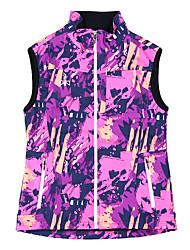 cheap -Women's Hiking Vest / Gilet Fishing Vest Winter Outdoor Warm Vest / Gilet Fleece Spandex Softshell Single Slider Camping / Hiking Outdoor Exercise Back Country Black / Violet / Orange / Blue Hiking