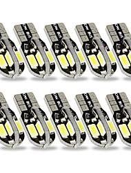cheap -SENCART 10pcs T10 Car Light Bulbs 3 W SMD 5630 240 lm 8 LED Interior Lights For General Motors All years