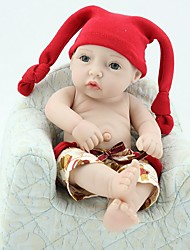 cheap -NPK DOLL Reborn Doll Baby 12 inch Silicone Vinyl - Newborn lifelike Cute Hand Made Child Safe New Design Kid's Unisex / Girls' Toy Gift / Natural Skin Tone / Floppy Head / Tipped and Sealed Nails