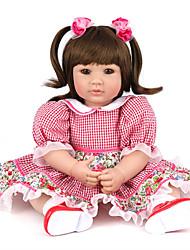 Недорогие -NPK DOLL Куклы реборн Девочки 20 дюймовый Силикон Винил - Новорожденный как живой Милый стиль Ручная работа Безопасно для детей Non Toxic Детские Универсальные Игрушки Подарок / Естественный тон кожи