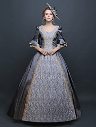 cheap -Baroque Renaissance Dress Outfits Party Costume Masquerade Women's Lace Lace Costume Gray Vintage Cosplay 3/4 Length Sleeve Floor Length Long Length Ball Gown Plus Size Customized