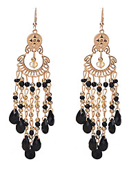 cheap -Women's Synthetic Tanzanite Crystal Drop Earrings Drop Ladies Tassel Fashion Crystal Resin Earrings Jewelry Rainbow / Blue / Pink For Party Going out