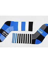 cheap -Compression Socks Athletic Sports Socks Cycling Socks Men's Women's Cycling / Bike Bike / Cycling Anatomic Design Breathability Limits Bacteria 1 Pair Stripes Letter & Number Nylon Elastane Green