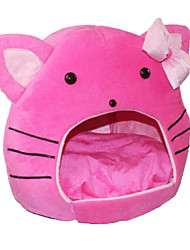 cheap -Cat Bed Sofa Cushion Lounge Sofa Portable Foldable Pet Mats & Pads Fabric Solid Colored Cartoon Pink