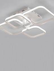 cheap -4-Light 4-Head Geometric Square Modern Simplicity Led CeilingLamp Living Room Dining Room Bedroom Light Fixture