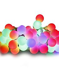 cheap -10m String Lights 100 LEDs Warm White / White / Red Dimmable 220 V / 110-130 V