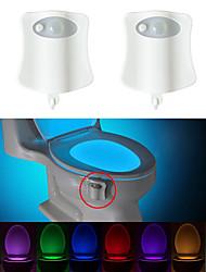 Недорогие -BRELONG® 2pcs Туалетный свет Аккумуляторы AAA Smart / Датчик человеческого тела