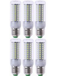 cheap -6pcs E27 LED Lamp LED Bulb SMD5730 220V Corn Bulb 72LEDs Chandelier Candle LED Light For Home Decoration Ampoule