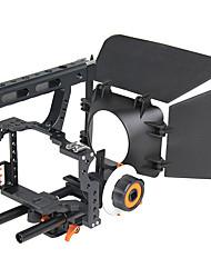 Недорогие -yelangu популярный DSLR камеры клетка плечевая установка комплект c500 содержит следует матовые поддержки рамки фокусировки универсальные