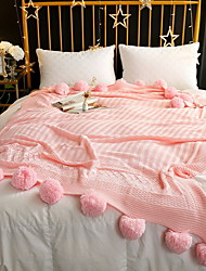 cheap -Bed Blankets, Solid Colored / Polka Dot Cotton / Polyester / Polyester Thicken Blankets