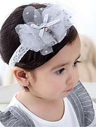 cheap -Toddler Girls' Lace Hair Accessories Gray One-Size / Headbands