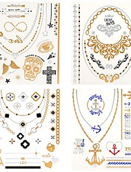 cheap -4 pcs Temporary Tattoos Waterproof Body / Hand / brachium Tattoo Stickers