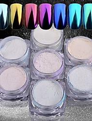 cheap -Seven-piece Suit 7pcs Glitter Powder Mirror Effect / Nail Glitter Nail Art Design