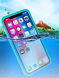 cheap -Case For Apple iPhone X Waterproof / Shockproof / Translucent Full Body Cases Solid Colored Hard Plastic