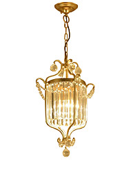 cheap -1-Light 32 cm Crystal / Mini Style Chandelier Metal Crystal Painted Finishes LED 110-120V / 220-240V