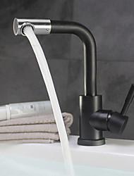 cheap -Contemporary Antique Ceramic Valve Single Handle One Hole Bathroom Sink Faucet Bath Taps