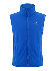 cheap -Women's Hiking Gilet Fishing Vest Winter Outdoor Warm Vest / Gilet Fleece Single Slider Camping / Hiking Outdoor Exercise Violet / Blue / Rose Red Hiking Fleece Camping & Hiking Apparel & Accessories