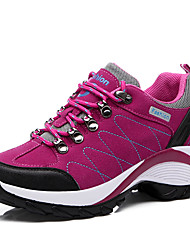 cheap -Women's Athletic Shoes Flat Heel Round Toe Faux Leather Casual / Preppy Hiking Shoes Spring & Summer Black / Purple / Light Pink