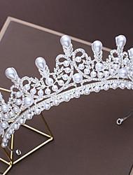 cheap -Alloy Tiaras with Rhinestone / Faux Pearl 1pc Wedding / Birthday Headpiece