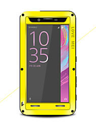 cheap -Case For Sony Sony Xperia X Performance Water / Dirt / Shock Proof Full Body Cases Solid Color Hard Metal