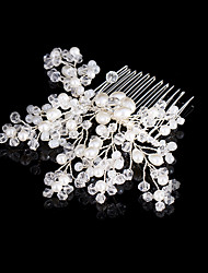 cheap -Beads / Copper wire Hair Combs / Headpiece with Faux Pearl / Crystals 1pc Wedding Headpiece