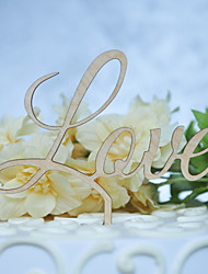 cheap -Cake Topper Classic Theme Wedding Cut Out Wooden/Bamboo Wedding Birthday with Sided Hollow Out 1 OPP