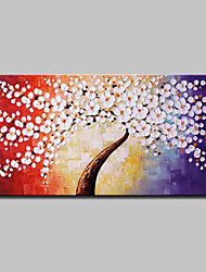 cheap -Mintura® Hand Painted Rich Tree Oil Paintings On Canvas Modern Abstract Flower Wall Art Pictures For Home Decoration Ready To Hang