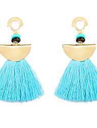 cheap -Women's Synthetic Tanzanite Drop Earrings fan earrings Tassel Ladies Tassel Vintage Resin Earrings Jewelry Light Blue / Light Pink / Royal Blue For Evening Party Formal
