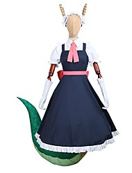 cheap -Inspired by Miss Kobayashi's Dragon Maid Cosplay Anime Cosplay Costumes Japanese Cosplay Suits Dresses Other Short Sleeves Blouse Dress Gloves For Men's Women's / Belt / More Accessories / Headwear
