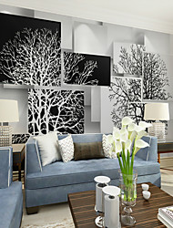 cheap -Black and White Art Tree Custom 3D Large Wall Covering Mural Wallpaper Suitable Restaurant Tv Background Tree